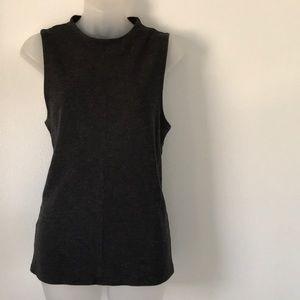 Ann Taylor sleeveless gray blouse